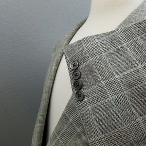 Brooks Brothers Wool Silk Linen Plaid Sport Coat